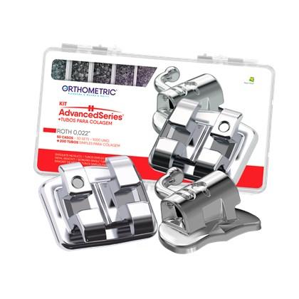 Bráquete Metálico Advanced Series com Gancho 10.10.2920 Roth 022 - ORTHOMETRIC