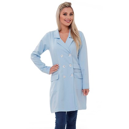 Jaleco Trench Coat Paris Azul Claro - ORTHOGIFTS