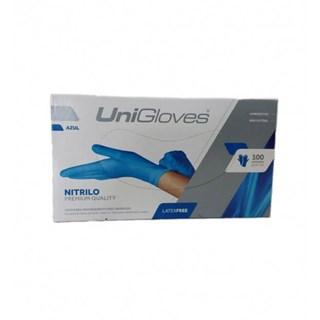Luva Blue Nitrilo Powder Free – UNIGLOVES
