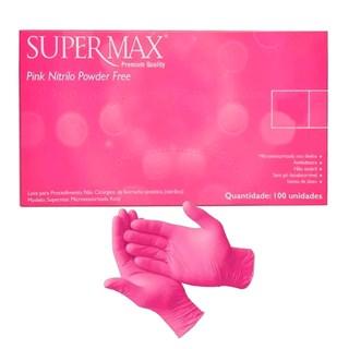 Luva Pink Nitrilo Powder Free – SUPERMAX